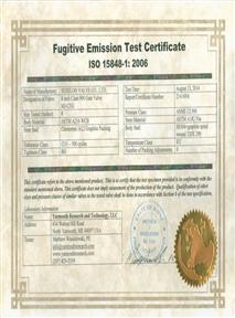 Fugitive Emission Test Certificate
