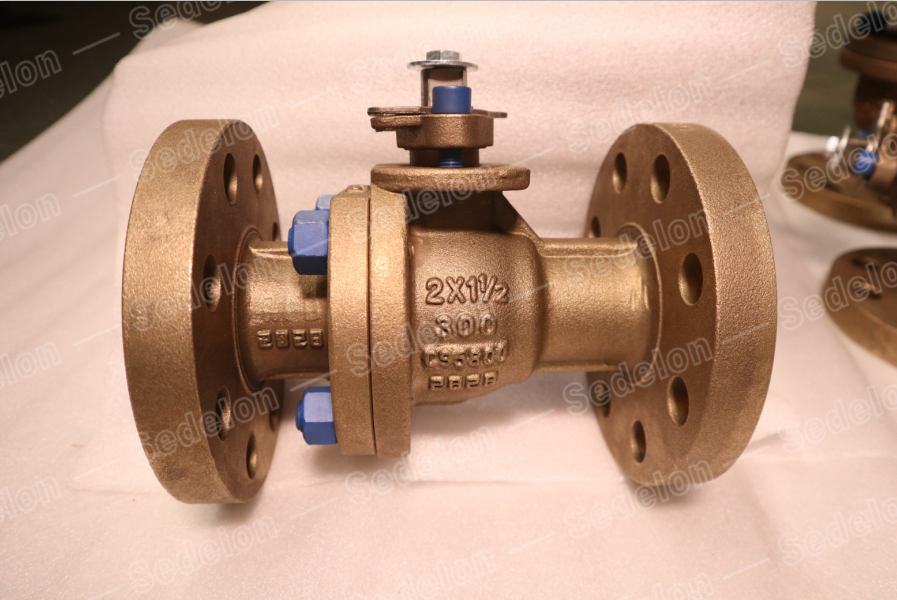 Ni-Al Bronze C95800 FF Reduced Bore Bolting PTFE Ball Valve